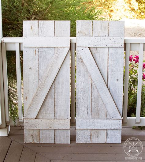 DIY Barn Door Shutters Exterior