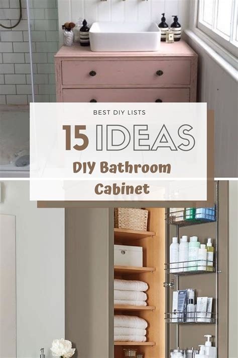 DIY Bathroom Cabinets On Pinterest