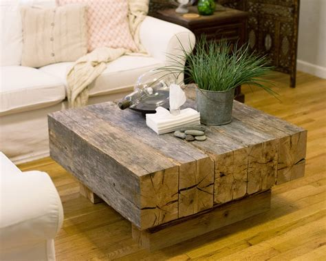 DIY Beam Coffee Table