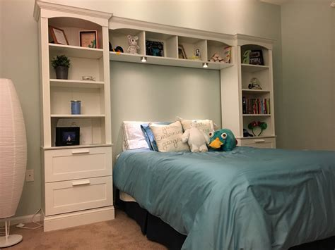 DIY Bed Bridge Bookcase
