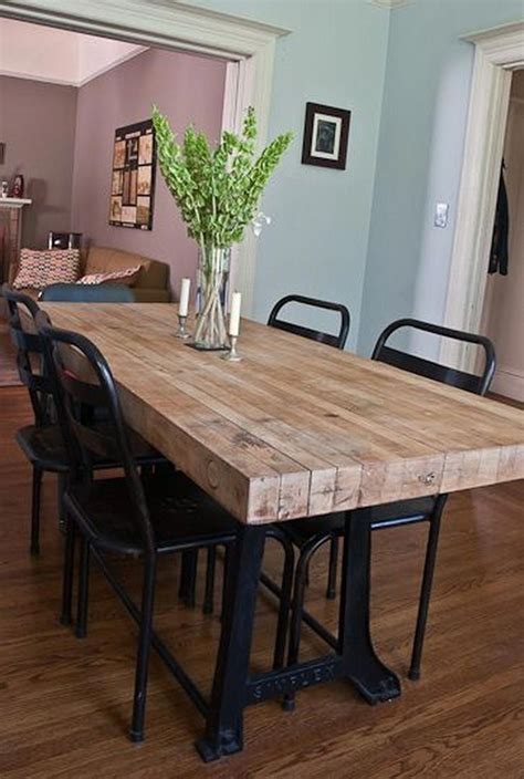 DIY Bench Style Kitchen Table