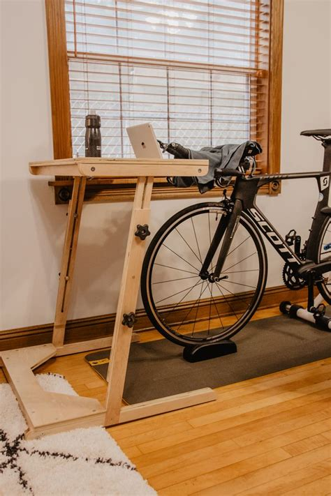 DIY Bike Desk
