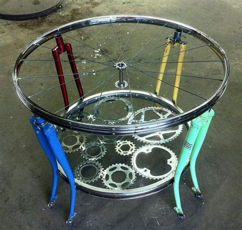 DIY Bike Part Tables