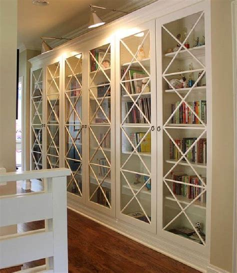DIY Bookcase With Glass Doors