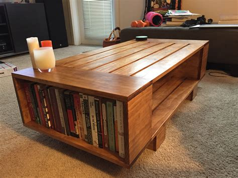 DIY Bookshelf Coffee Table