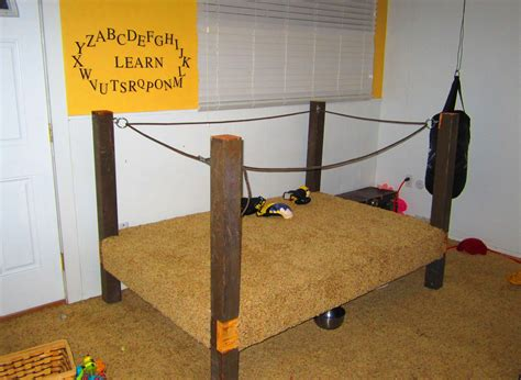 DIY Boxing Ring Bed