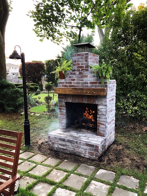 DIY Brick Fireplace Plans