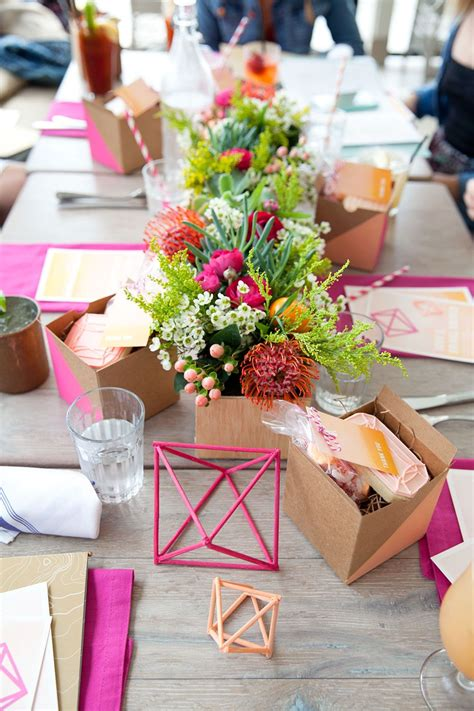 DIY Bridal Shower Table Decor