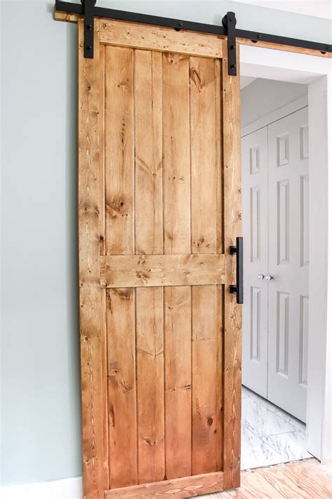 DIY Building Plans Interior Barn Door