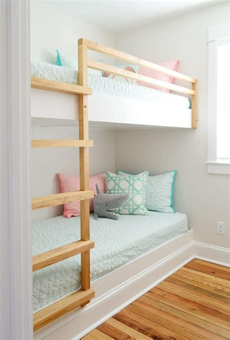 DIY Built In Bunk Beds With Stairs