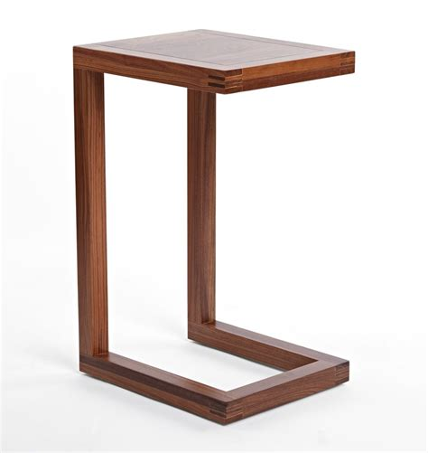 DIY C Shaped End Table