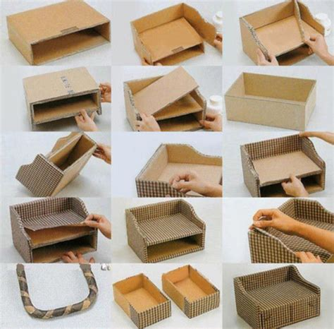 DIY Cardboard Boxes For Storage