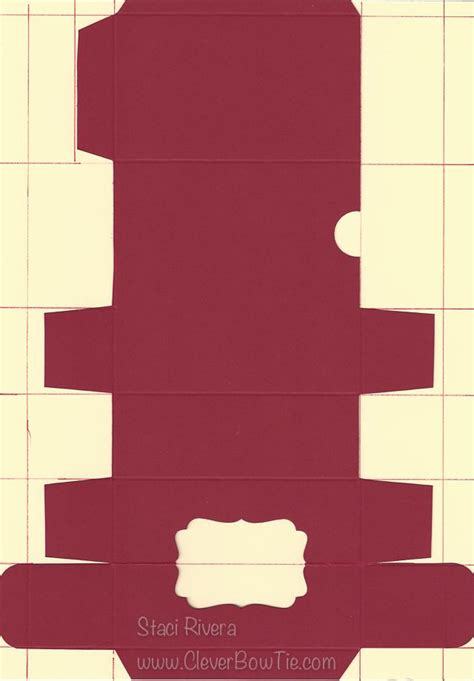 DIY Cardstock Candy Box Template