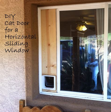 DIY Cat Door For Sliding Window