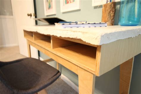 DIY Cement Top Desk