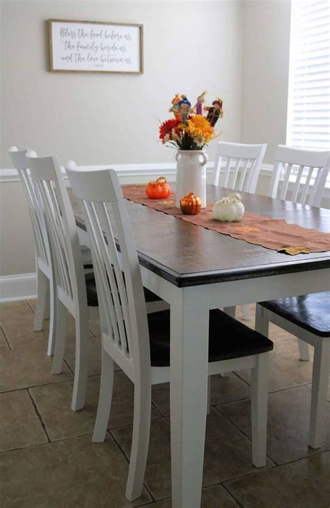 DIY Chalk Paint Dining Table