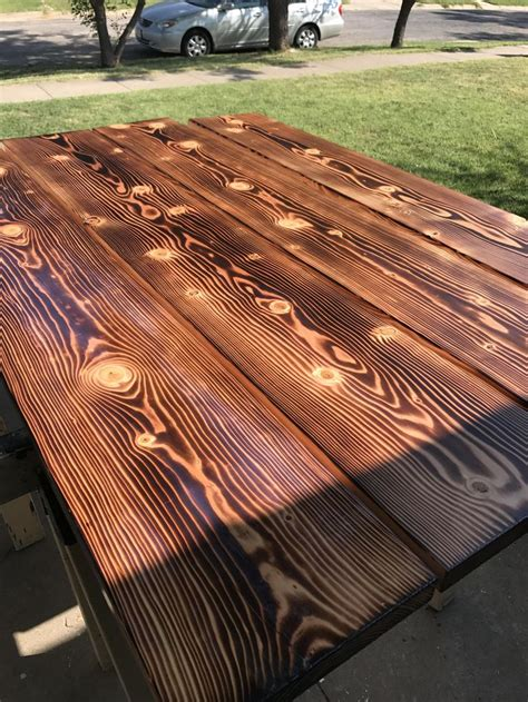 DIY Charred Wood Finish