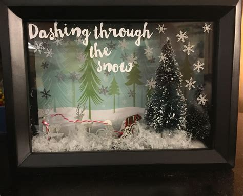 DIY Christmas Shadow Box