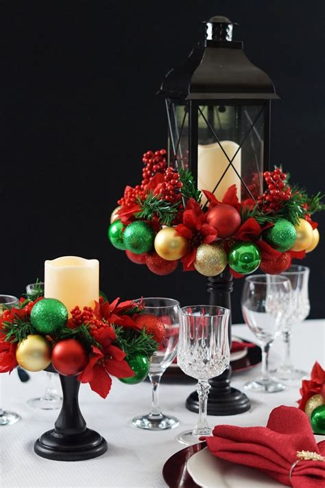 DIY Christmas Table Centrepieces