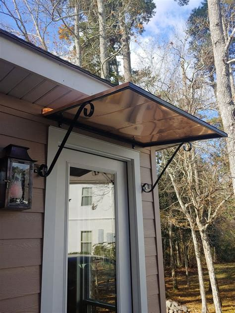 DIY Clear Awnings Over Doors