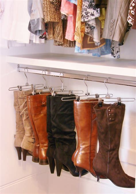 DIY Closet Boot Storage