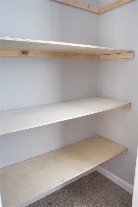 DIY Closet Floor Shelves