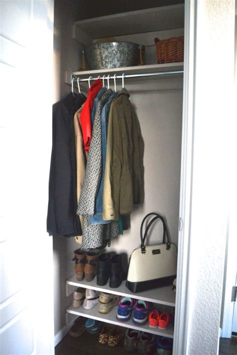 DIY Coat Closet Shelves