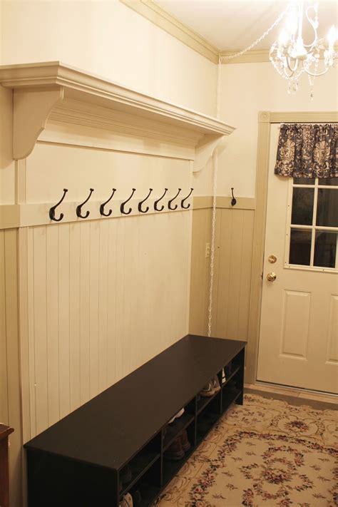 DIY Coat Rack With Storage