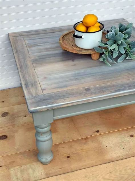 DIY Coffee Table Makeover Gray