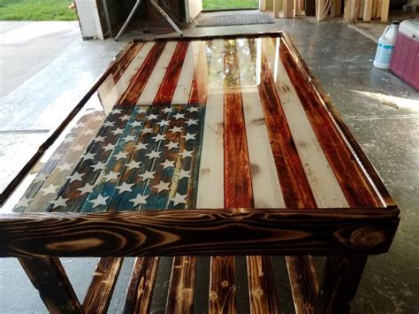 DIY Coffee Table With Flag Design