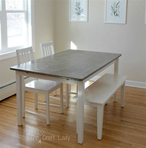 DIY Concrete Dining Table Top