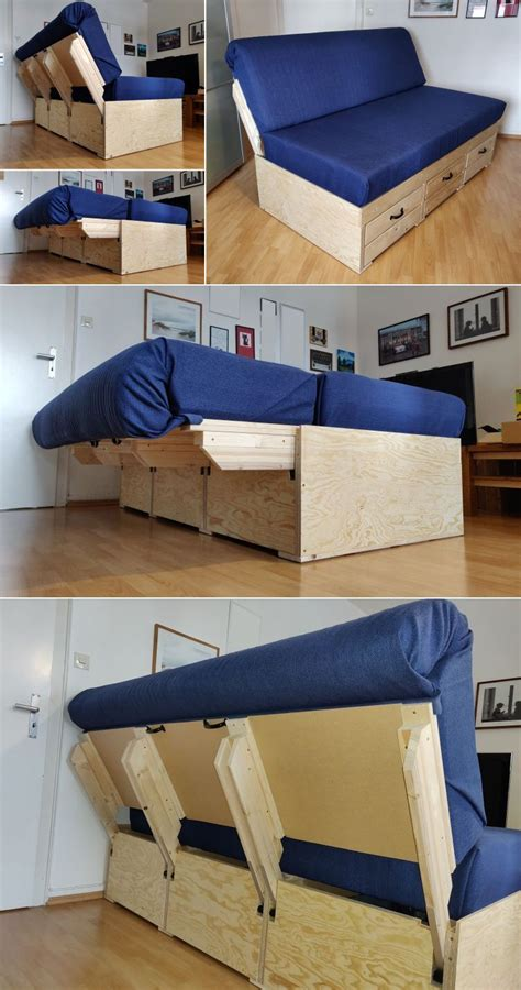 DIY Convertible Chair Bed