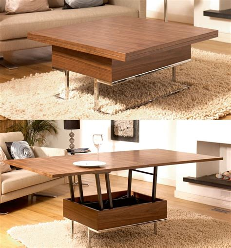 DIY Convertible Coffee Table To Dining Table