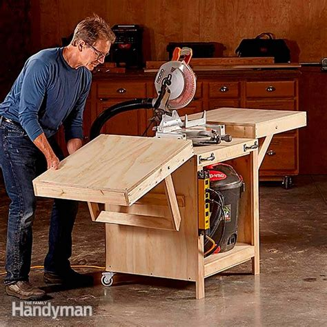 DIY Convertible Miter Saw Table Plans