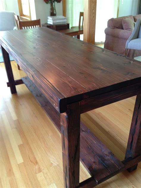 DIY Country Farmhouse Table Counter Height
