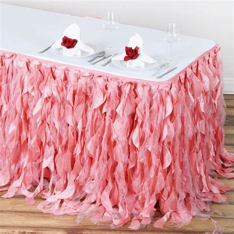 DIY Curly Willow Table Skirt