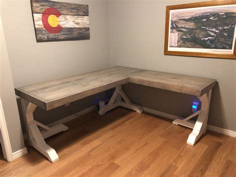 DIY Custom L Shaped Office Desk