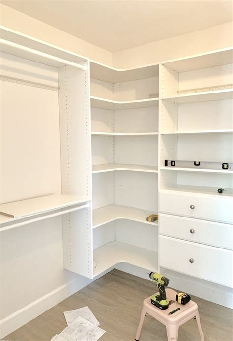 DIY Custom Walk In Closet Design