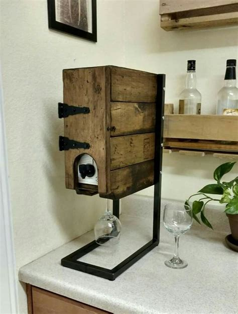 DIY Decorative Wine Box Dispenser