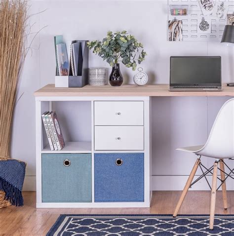 DIY Desk With Storage Cubes