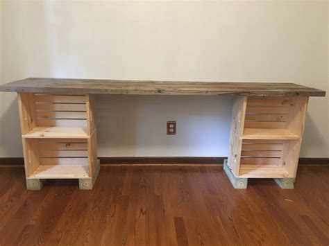 DIY Desk With Wood Planks