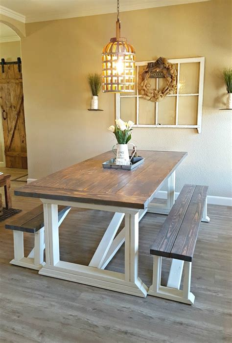 DIY Dining Room Table And Bench