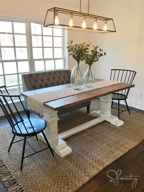 DIY Dining Table Pedestal