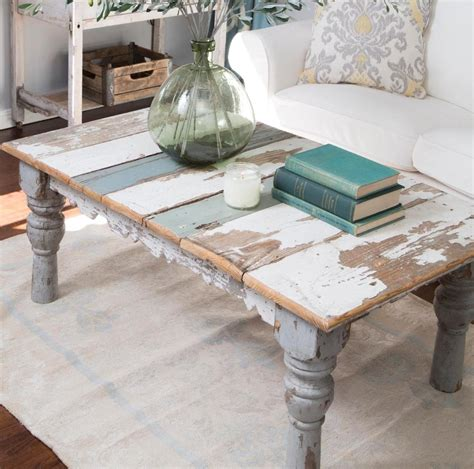 DIY Distressed Painted Coffee Table