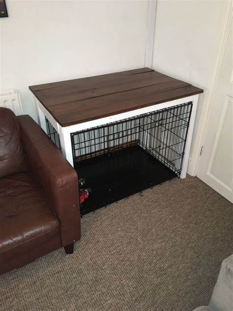 DIY Dog Kennel Table
