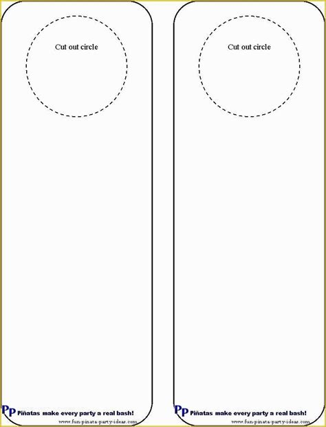 DIY Door Hangers Template