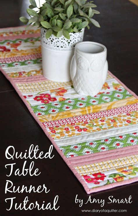 DIY Easy Quilted Table Runner