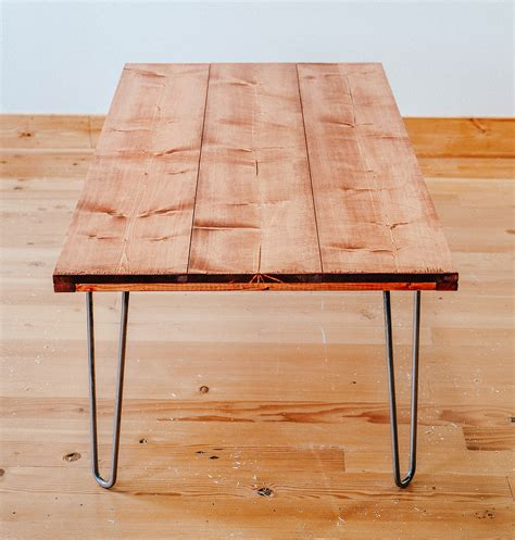 DIY End Table With Hairpin Legs