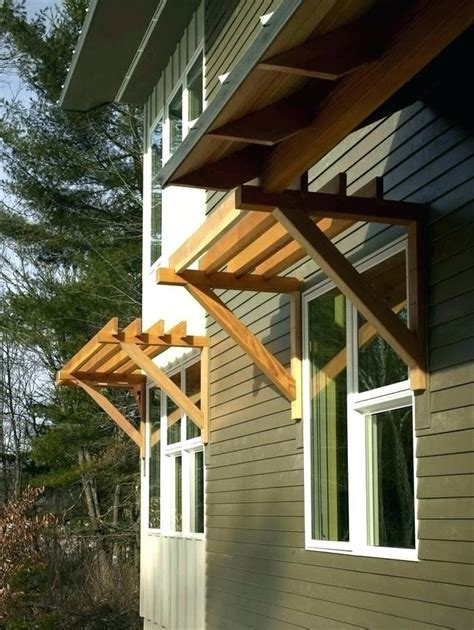 DIY Exterior Awnings Wood