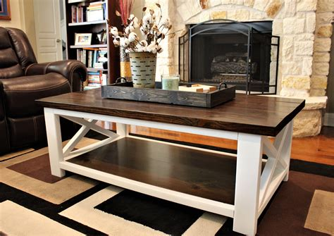 DIY Farmhouse Coffee Table Top